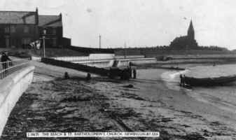 Postcard of Lifeboat slipway - 1950